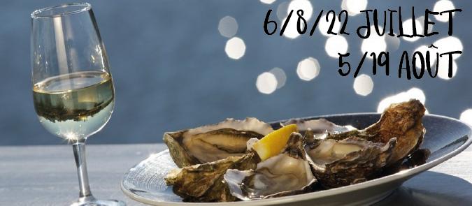 Dégustation huîtres vin blanc catamaran croisière